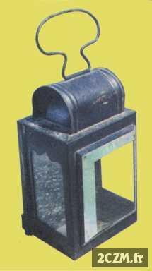 lanterne de fiacre en t le peinte vers 1920. Black Bedroom Furniture Sets. Home Design Ideas