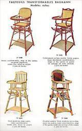 Traditionnelle Chaise haute Emile Baumann pour Bébé