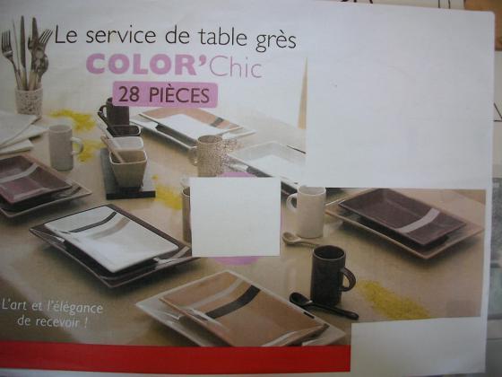 Service de Table 28 pièces Color Chic - Neuf