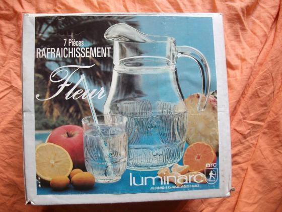 Service à Boisson 7 pièces Luminarc- Neuf