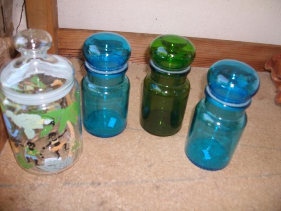 Poubelles de Table et Pots culinaires en verre