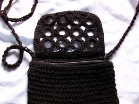 Pochette de Soirée (ou petit sac à mains) effet brodé Noir-neuf