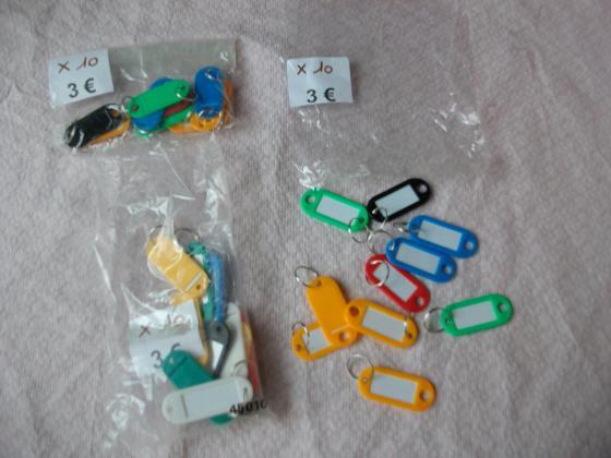Lots de Plaquettes d'identité pour clé-Neuf