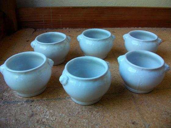 Lot 6 petits bols pour soupe à 0,50 €
