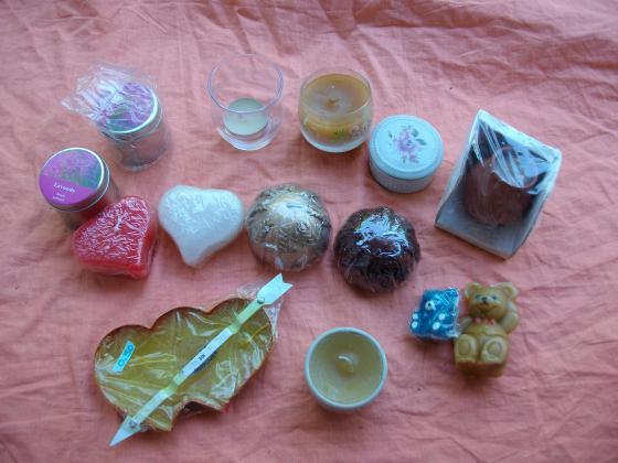 Diverses BOUGIES décoratives - neuves
