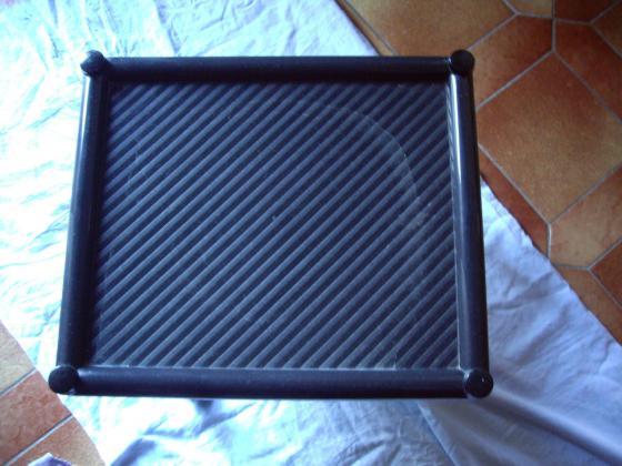 Desserte Rectangulaire en plastique Noir