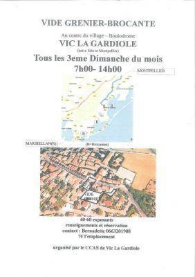 Brocante Vide-greniers à VIC LA GARDIOLE
