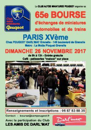 Bourse d'Echanges Automobiles Miniatures et Trains de PARIS 15