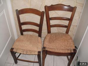 2 chaises tressées main