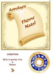 Astrologie, thème natal