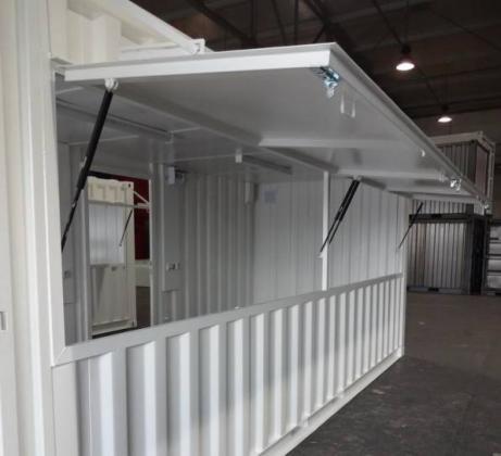 Conteneur module kiosk/bureau