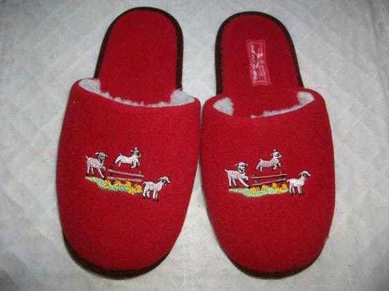 Pantoufles fourrées décor Noël pt 41-neuves