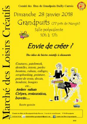 Marché des Loisirs Creatifs de GRANDPUITS BAILLY CARROIS