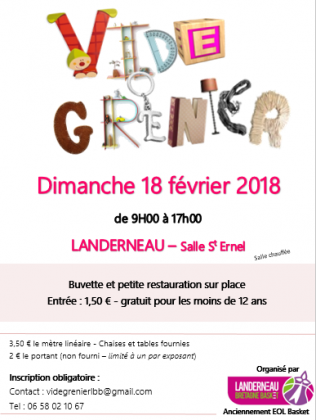 Vide Grenier - Landerneau le  18 février 218