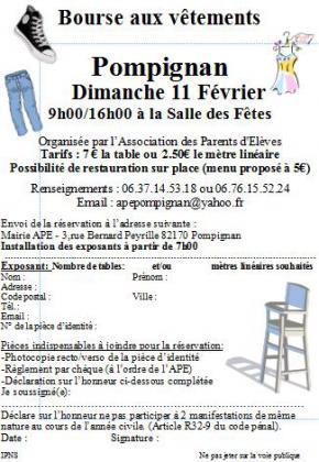 Bourse aux vêtements de Pompignan