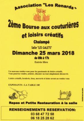 Bourse aux Couturières et Loisirs Créatifs - CHALAMPE