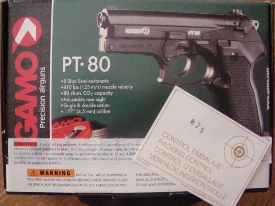 Pistolet air comprimé Gamo PT.80