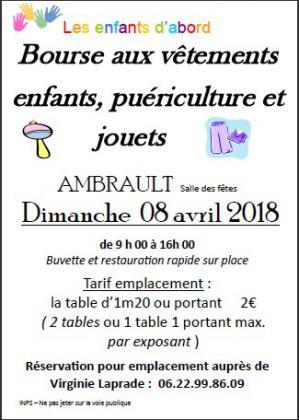 Bourse aux vêtement enfants - Ambrault