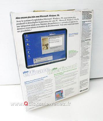 Windows 98, neuf sous blister, pour collectionneur