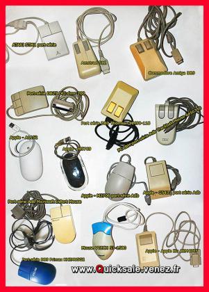 Souris, Microsoft, Apple, Artec, Mac, Atari, Commodore, Amiga, Primax, Thomson, Ibm, Vtech, Dfi ...