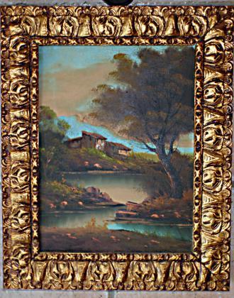Deux tableaux anciens de paysages