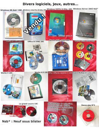 Logiciels informatiques cd-originaux 5€