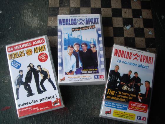 K7 Vidéos et CD des Worlds Apart
