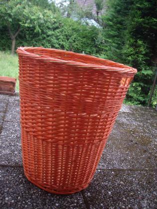 Panier à linge et/ou de rangement en osier Orange