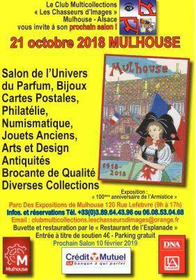 Salon du Parfum Carte Postale Timbre de Mulhouse