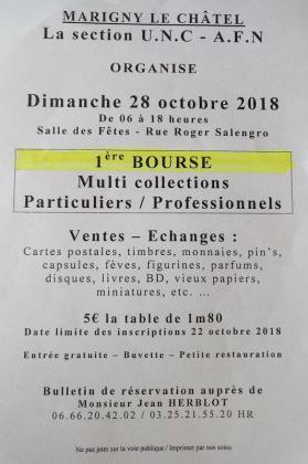 Bourse Multi Collections de Marigny-le-Châtel