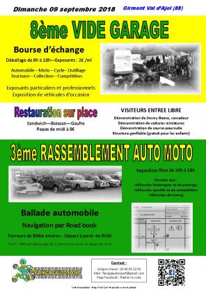 vide garage (vide grenier mécanique) / rassemblement auto moto / balade automobile