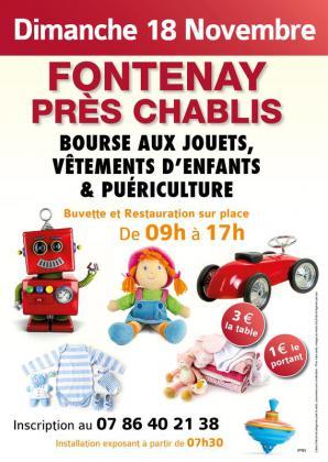 Bourse aux jouets - puériculture de Fontenay-près-Chablis