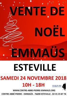 Vente de Noël Emmaüs - Esteville