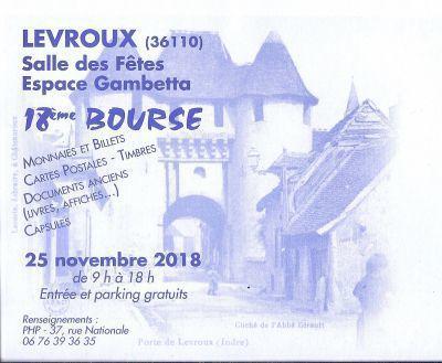 Bourse Cartes Postales Timbres Monnaie de Levroux