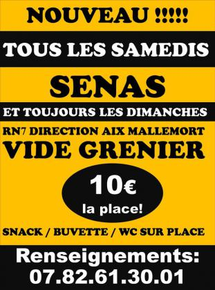 Vide-greniers de Sénas