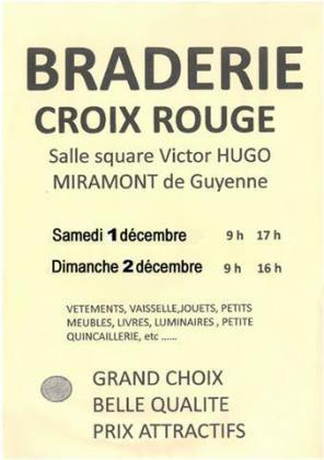 Braderie de la croix rouge à Miramont-de-Guyenne