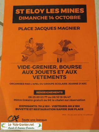 Vide-greniers de Saint-Eloy-les-Mines