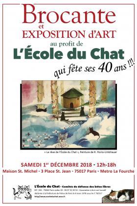 BROCANTE & EXPOSITION D'ART au profit de l'Association L'ÉCOLE du CHAT