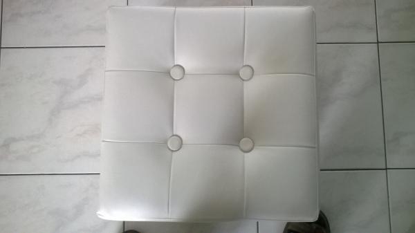 Tabouret carré blanc