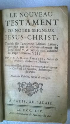 LE NOUVEAU TESTAMENT DE NOTRE SEIGNEUR JESUS CHRIST