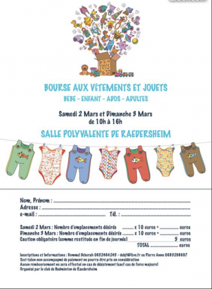 Bourse vêtements et jouets de Raedersheim