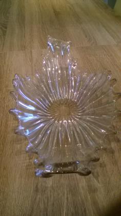 Coupe en verre épais vintage art contemporain
