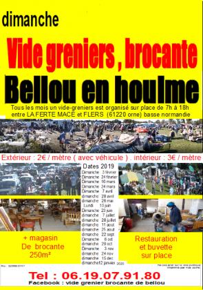 Brocante Vide-greniers de Bellou-en-Houlme