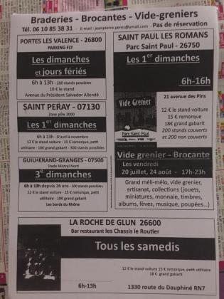Vide-greniers de Saint-Péray