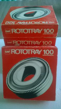 4 paniers diapositives Rototray 100 Universal GAF