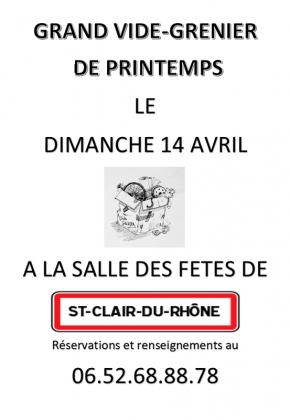 Vide-greniers de Saint-Clair-du-Rhône