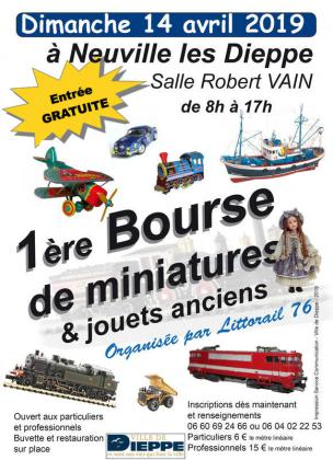 Bourse trains miniatures de Dieppe