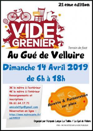 Vide-greniers - Le Gué-de-Velluire