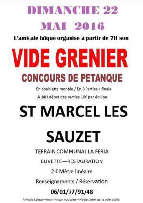 Vide-greniers de Saint-Marcel-lès-Sauzet