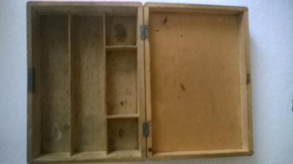 Boîte en bois Vintage toilette de pension